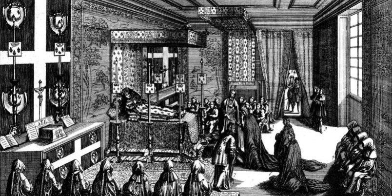 La chambre du trépas de Louis XIV Roy de France
